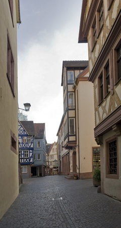 wertheim: city view of the Old Town in Wertheim am Main (Southern Germany)