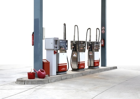 classic filling station with fade out background Stock Photo - 10840026
