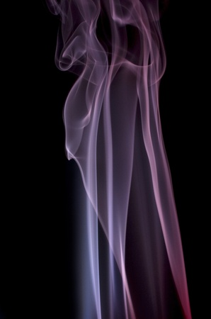 particulates: abstract picture showing some colored smoke in black back