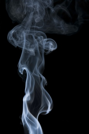 particulates: abstract picture showing some smoke in black back Stock Photo