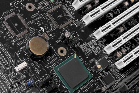 full-frame technology background showing a main board detail photo