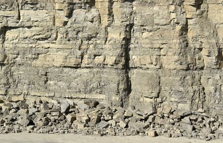 sand quarry: abstract detail of a stone facade in a quarry Stock Photo
