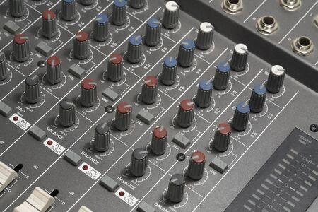 modulator: full frame detail of a studio mixer