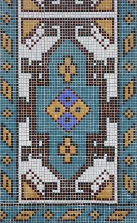 full frame detail of a abstract mosaic made of small glazed tiles Stock Photo - 10839714