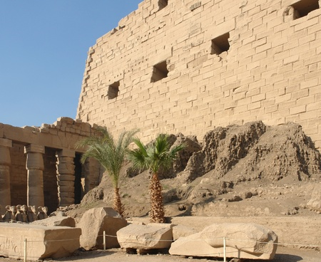 sunny illuminated architectural scenery around the Precinct of Amun-Re in Egypt (Africa) Stock Photo - 10839681