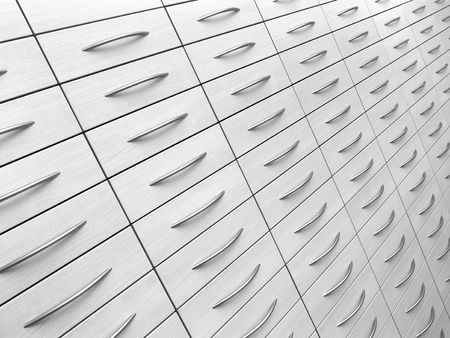 abstract detail of a light grey cabinet photo