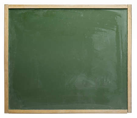 moistness: old used blackboard badly wiped out. Studio photography in white back Stock Photo