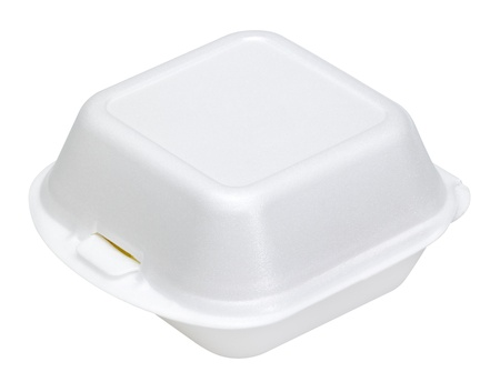 a white junk food box made of plastic in white back Stock Photo - 10862355
