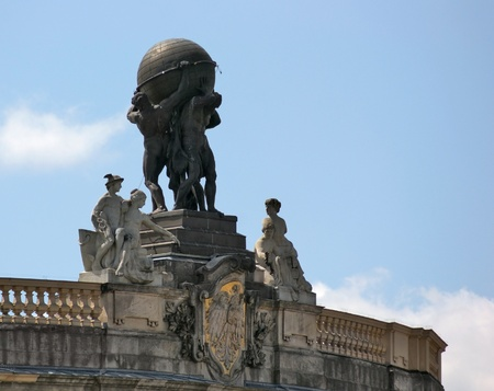 knack: the Atlas statue in Berlin (Germany) in sunny ambiance