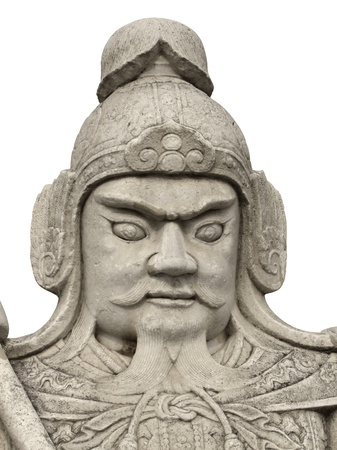 road warrior: detail of a historic chinese stone sculpture located at the Ming Dynasty Tombs (located some 50 kilometers due north of urban Beijing) at a specially selected site. Stock Photo