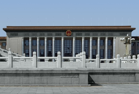 great hall: the Great Hall of the People at Tiananmen Square in Beijing (China)