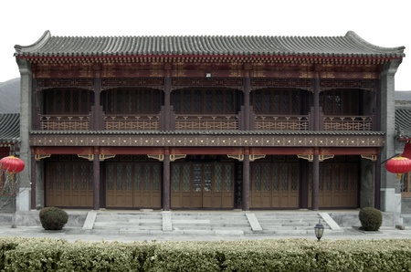 badaling: traditional building near Badaling, which is the most visited section of the Great Wall of China