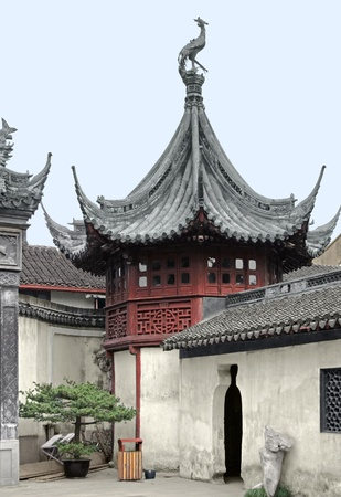 architectural detail in the historic Yuyuan Garden in Shanghai (China).The garden was created in the year 1559 by Pan Yundan photo