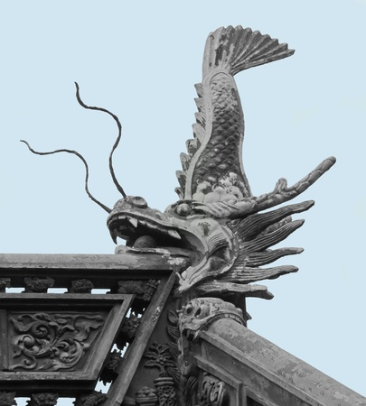 architectural detail including a old historic stone sculpture in the Yuyuan Garden in Shanghai (China) photo