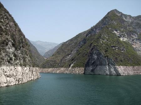 yangtze: sunny scenery along the Yangtze River in China