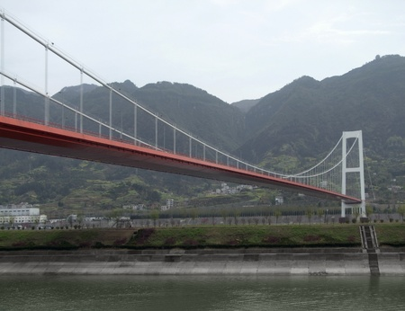 bridge detail at the Yangtze River in China photo