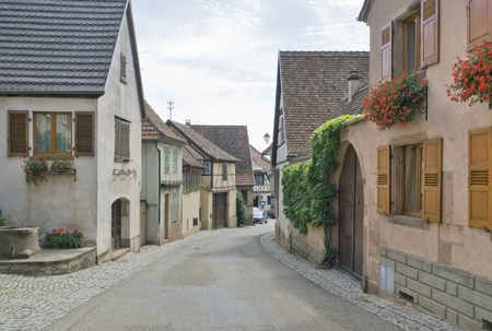 street scenery in Mittelbergheim, a village of a region in France named Alsace Stock Photo - 10967363