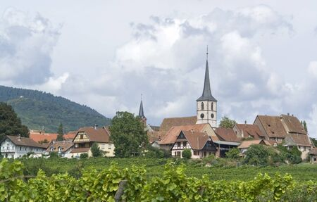 detail of Mittelbergheim, a village of a region in France named Alsace Stock Photo - 10862640