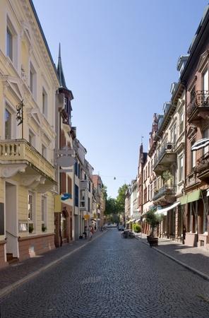 freiburg: street view of Freiburg im Breisgau, a city in Baden-Wu00fcrttemberg (Germany)