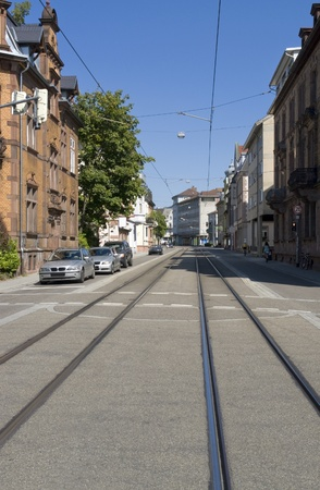 street view of Freiburg im Breisgau, a city in Baden-Wu00fcrttemberg (Germany) photo