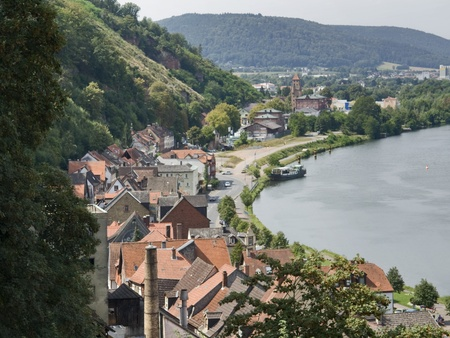 aerial view of Miltenberg, a small town in Southern Germany Stock Photo - 11039212
