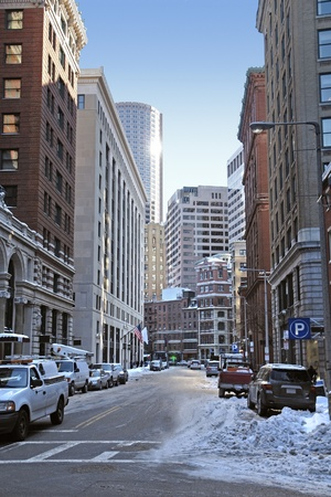 sunny winter scenery in Boston (Massachusetts, USA) Stock Photo - 10862978