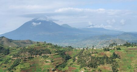 aerial view around the Virunga Mountains in Uganda (Africa) Stock Photo - 10862824