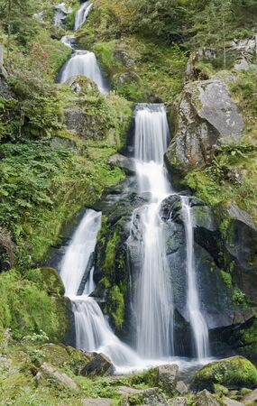 scenery showing the Triberg Waterfalls in the Black Forest in Southern Germany at summer time photo