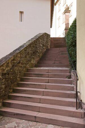 wertheim: stairway in a city named Wertheim am Main (Southern Germany)