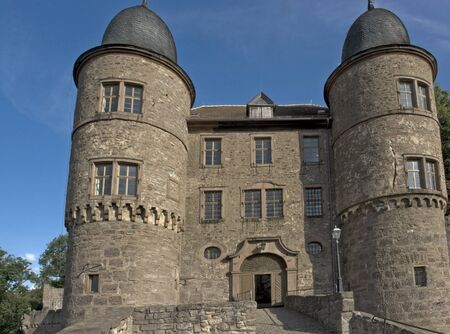wertheim: Entrance of the Wertheim Castle in Southern Germany in sunny summer time