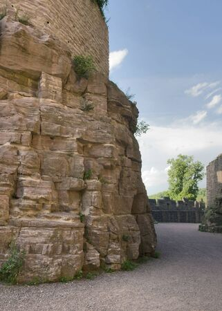 wertheim: scenery around Wertheim Castle in Southern Germany with rock formation and walls