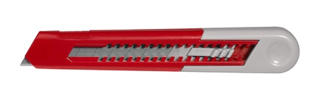boxcutter: utility knife isolated on white with clipping path
