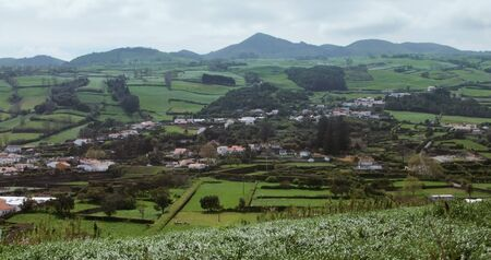 panoramic scenery at Sao Miguel Island photo