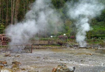 moistness: hot spring at Sao Miguel Island