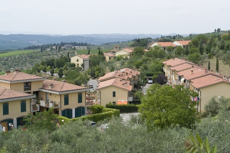 bowery: panoramic scenery located in the Chianti region of Tuscany, an area in Italy (Southern Europe)