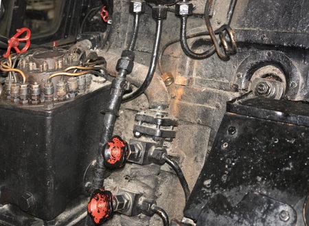 inside detail of a nostalgic steam engine