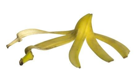 studio photography of a spread banana peel  photo