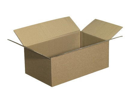 studio photography of a opened clean carton   photo