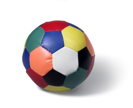squashy: a colorful soft ball in white back