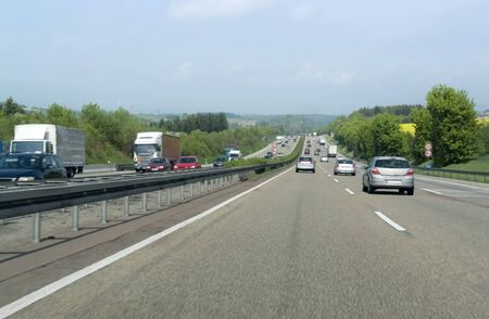 road scenery on a highway in Southern Germany at summer time photo