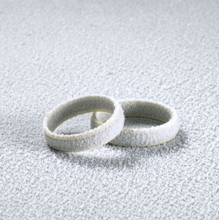 studio photography of two frosted wedding rings in cold ambiance Stock Photo - 10916988