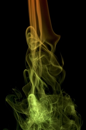 wavily: abstract picture showing some colorful smoke in black background