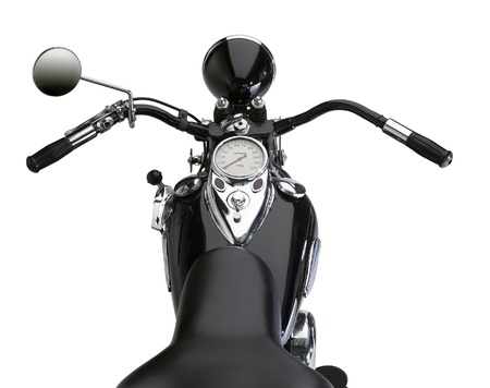 detail of a classic motorbike in white back Stock Photo - 10914594