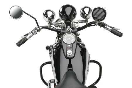 handlebar: motorbike in white back