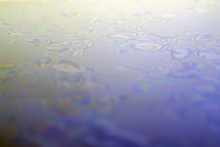 water surface with oily contamination photo