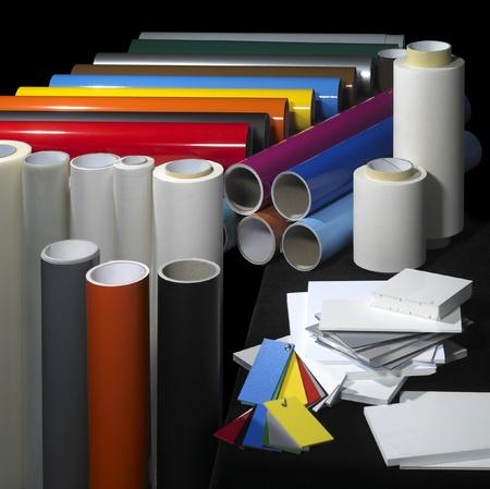 kunststoff rohr: viele Werbetechnik Materialien in schwarz zur�ck Lizenzfreie Bilder