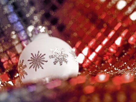 Christmas bauble in decorative back