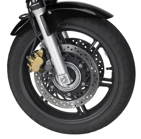 front wheel of a motorbike Stock Photo - 10914273