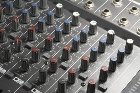 mezclador: detalle de fotograma completo de un mezclador de estudio Foto de archivo