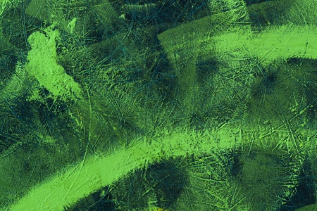 abstract green painted background with brush strokes on rough ground photo